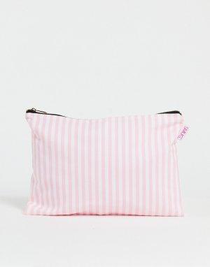 Большая косметичка в розовую полоску SMUG-Разноцветный Smug