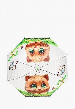 Зонт-трость Goroshek. Цвет: прозрачный