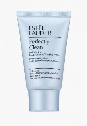 Пенка для умывания Estee Lauder очищающая 2 в 1 Perfectly Clean Multi-Action Foam Cleanser/Purifying Mask Clean, 30 мл. Цвет: прозрачный