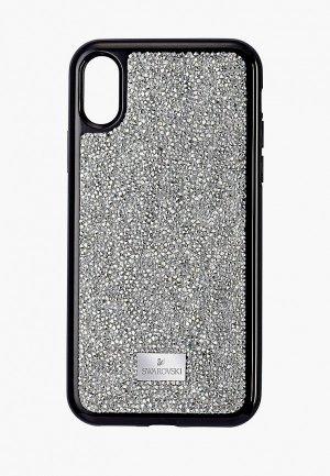 Чехол для iPhone Swarovski® Glam Rock. Цвет: серебряный
