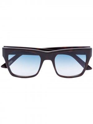 Солнцезащитные очки Kirven в квадратной оправе Kirk Originals. Цвет: коричневый