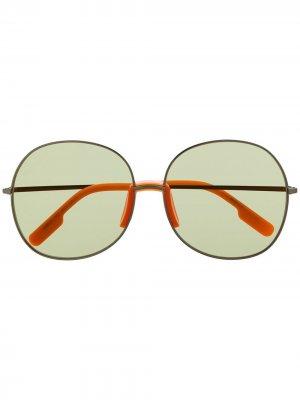 Солнцезащитные очки в круглой оправе Kenzo. Цвет: оранжевый