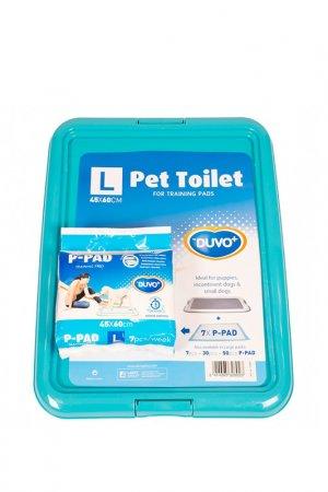Туалет для собак DUVO+. Цвет: бирюзовый