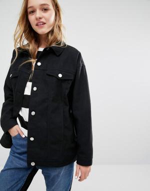 Джинсовая куртка Monki. Цвет: черный