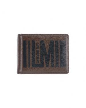 Бумажник LOVE MOSCHINO. Цвет: темно-коричневый