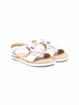 Декорированные сандалии Camper Kids. Цвет: белый