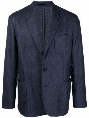 Однобортный пиджак PAUL SMITH. Цвет: синий