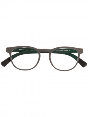 MYKITA ZENITH 331 MDL1 PITCH/COAL GREY Leather/Fur/Exotic Skins->Leather. Цвет: серый