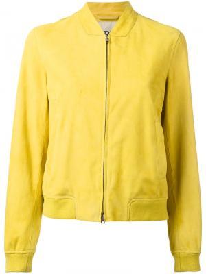 Куртка бомбер Herno. Цвет: зеленый