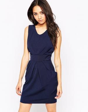 Офисное платье Sarah Lovestruck. Цвет: темно-синий