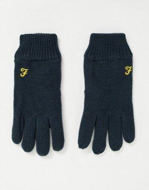 Перчатки с логотипом -Темно-синий Farah