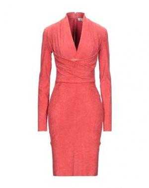Платье до колена JITROIS. Цвет: коралловый