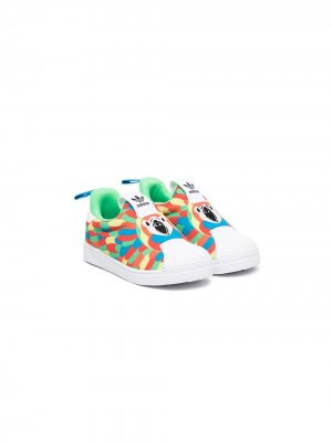 Слипоны Superstar 360 adidas Kids. Цвет: белый