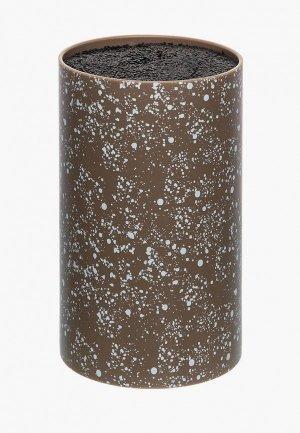 Подставка для ножей Elan Gallery. Цвет: коричневый