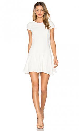 Платье hudson Amanda Uprichard. Цвет: белый