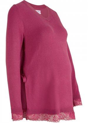 Пуловер для беременных и кормящих мам bonprix. Цвет: лиловый