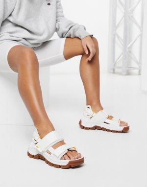 Белые сандалии на массивной подошве CAT-Белый Cat Footwear