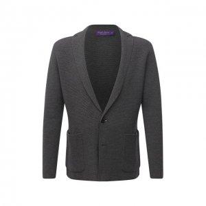 Пиджак из вискозы и шерсти Ralph Lauren. Цвет: серый