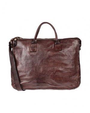 Деловые сумки CAMPOMAGGI. Цвет: темно-коричневый