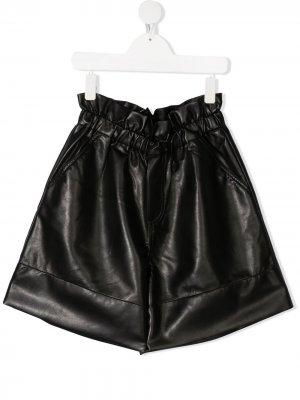 Расклешенные шорты Philosophy Di Lorenzo Serafini Kids. Цвет: черный