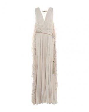 Длинное платье BABYLON. Цвет: бежевый