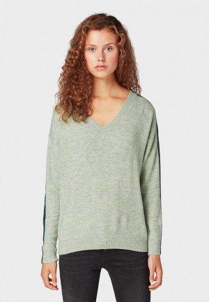 Пуловер Tom Tailor Denim. Цвет: зеленый