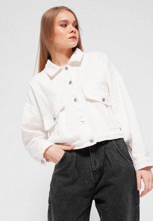 Куртка джинсовая Dorogobogato. Цвет: белый