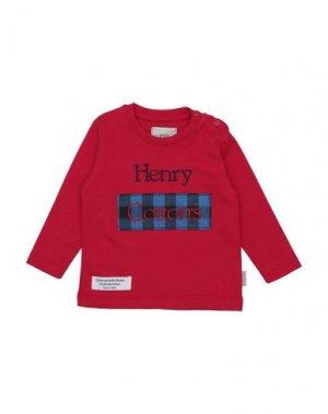Футболка HENRY COTTON'S. Цвет: красный