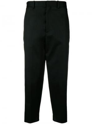 Укороченные классические брюки Neil Barrett. Цвет: черный