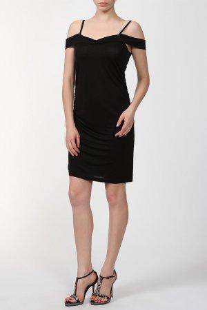 Платье черное на бретелях AP. Цвет: черный