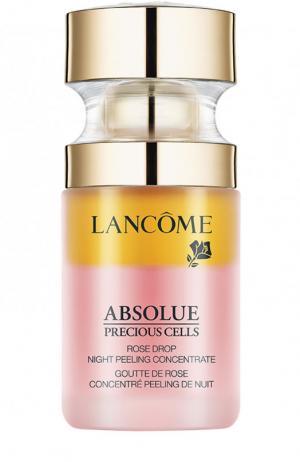 Ночной двухфазный пилинг-концентрат Absolue Precious Cells Rose Drop Lancome. Цвет: бесцветный