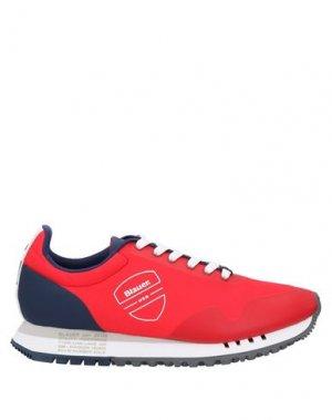Кеды и кроссовки BLAUER. Цвет: красный