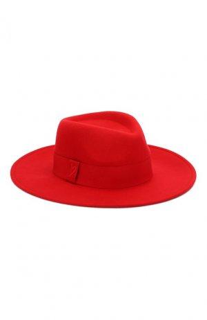 Фетровая шляпа Escada Sport. Цвет: красный
