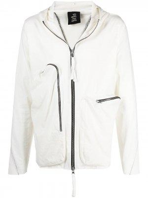 Куртка на молнии с капюшоном Thom Krom. Цвет: нейтральные цвета