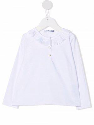 Рубашка поло с оборками Knot. Цвет: белый