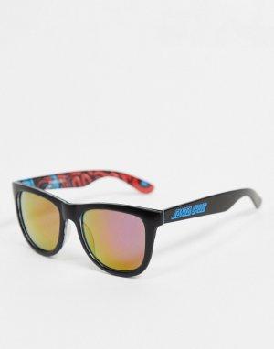 Сине-черные солнцезащитные очки с разноцветной внутренней поверхностью -Черный Santa Cruz