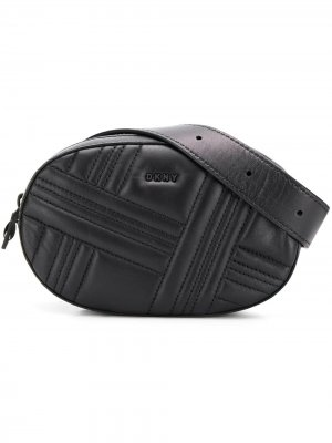 Стеганая поясная сумка Allen DKNY. Цвет: черный