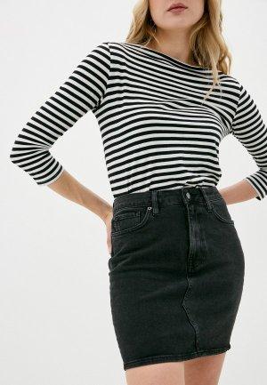 Юбка джинсовая Superdry High Rise Mini Skirt. Цвет: серый