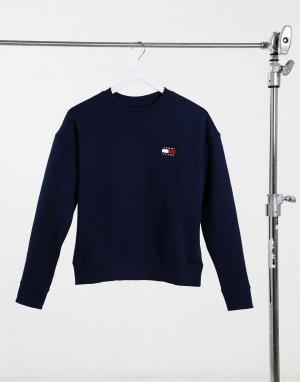 Темно-синий свитер с круглым вырезом icon Tommy Jeans