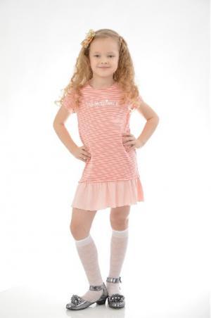 Платье Mango Kids. Цвет: разноцветный