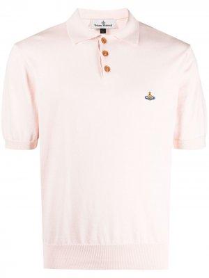 Рубашка поло с вышивкой Orb Vivienne Westwood. Цвет: розовый