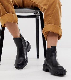 Черные ботинки челси для широкой стопы RAID Radar-Черный Wide Fit