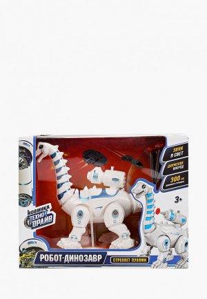 Робот Технодрайв -динозавр, 17 см. Цвет: белый