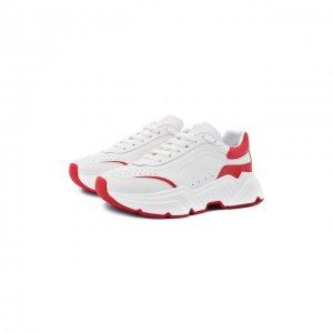 Кожаные кроссовки Daymaster Dolce & Gabbana. Цвет: красный