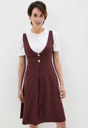 Платье Kira Plastinina. Цвет: бордовый