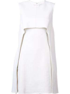 Платье с молнией сбоку Kaufmanfranco. Цвет: белый