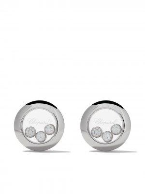 Серьги-гвоздики Happy Diamonds Icons из белого золота Chopard. Цвет: белый