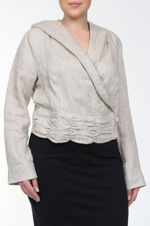Блуза L-Design. Цвет: натуральный