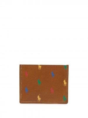 Картхолдер с логотипом Polo Ralph Lauren. Цвет: коричневый