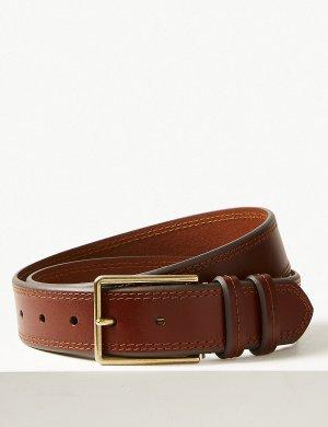 Повседневный кожаный ремень M&S Collection. Цвет: загар